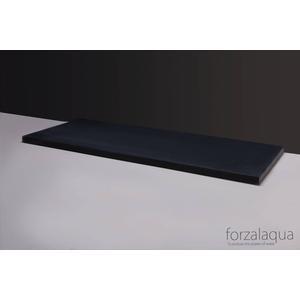 Forzalaqua Wastafelblad 120,5x51,5x3 cm 2x ø72mm Graniet Gezoet