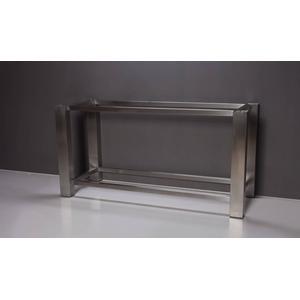 Forzalaqua Onderstel RVS 140x51x80 cm Geborsteld Zilver