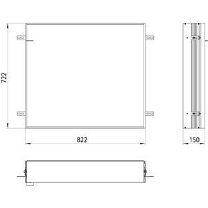 Emco Asis Montageraam 80cm Aluminium