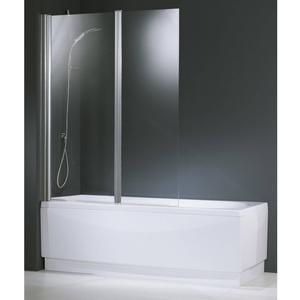 Novellini Aurora 2-deligebadwand 120x150 cm  omkeerbaar