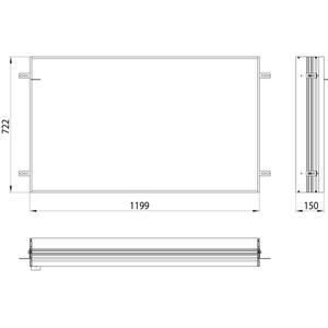 Emco Asis Prime 2 Montageraam 120 cm Aluminium