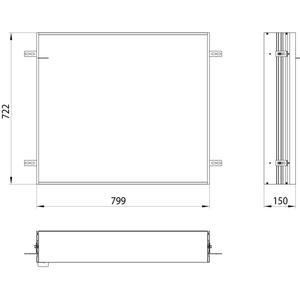 Emco Asis Prime 2 Montageraam 80 cm Aluminium