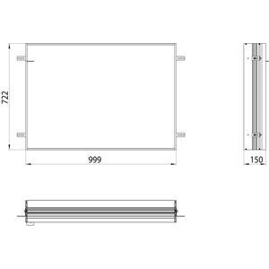 Emco Asis Prime 2 Montageraam 100 cm Aluminium