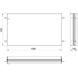 Emco Asis Prime 2 Montageraam 160 cm Aluminium