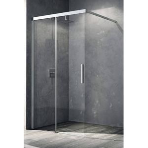Kermi Nica Schuifdeur Links voor Douche 120x200 cm Zilver Glans/Helder Glas