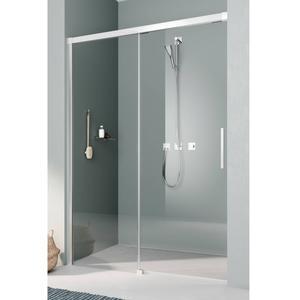 Kermi Nica Schuifdeur Links 170x200 cm Zilver Glans/Helder Glas