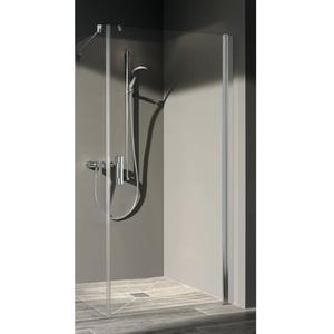 Kermi Pega Douchedeur Rechts voor Zijwand 100x200 cm Zilver Glans/Helder Glas