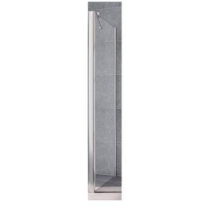 Kermi Pega Zijwand voor Douche 75x200 cm Zilver Glans/Helder Glas