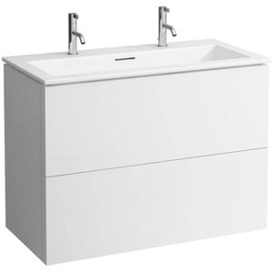 Laufen Kartell by Laufen meubelset 100x50 cm 2 kraangaten Mat Wit