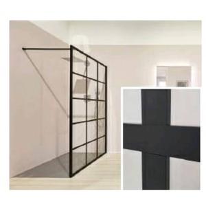 Kermi Dark Edition Walk-In Douchewand  100x200 cm Zwart
