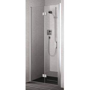 Kermi Liga vouwdeur rechts 120x200 cm Helder Glas/Zilver Glans