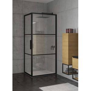 Riho Grid Douchecabine 100x90x200 cm Helder Glas/Mat Zwart