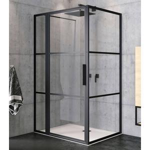 Riho Grid Douchecabine XL 110x90x200 cm Helder Glas/Mat Zwart