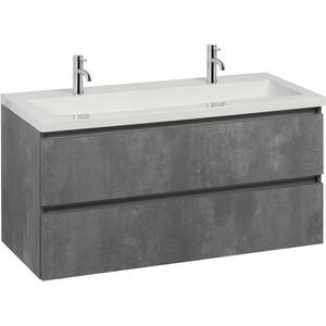Saqu Gaia badmeubelset 120x50,5x60 cm beton grijs