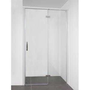 Saqu Galika (Nis)draaideur 90x210 cm vast deel rechts Aluminium / Helder Glas