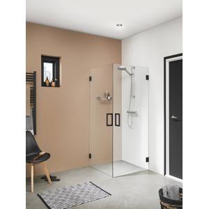 Get Wet by Sealskin I am Douchecabine Vierkant met draaideur 98x200cm Mat zwart/ (antikalk)