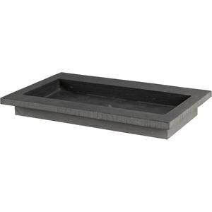 Ben Naturno wastafel hardsteen gezoet / gefrijnd, 60x51,5x3cm 1 bak zonder kraangat