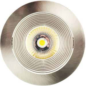 Spot rond alu brushed LED