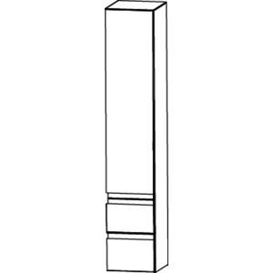 Saqu Pekka 3 Hoge kast 30x31,9x160 cm Hoogglans wit/hoogglans wit