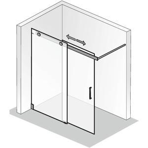 HSK Walk-in K2 Inloopdouche Schuifdeur op maat Chroom / Helder Glas