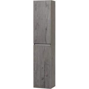 Ben Limara Hoge kast Links, 35x29x165 cm, Cape Elm/Aluminium