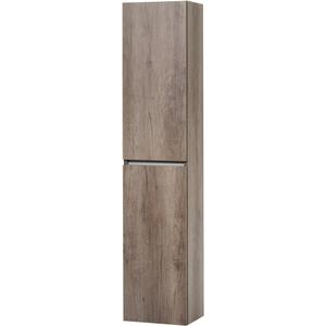 Ben Limara Hoge kast Links, 35x29x165 cm, Nebraska Eiken/Aluminium