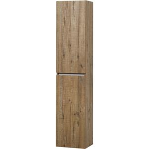 Ben Limara Hoge kast Links, 35x29x165 cm, Sherwood/Aluminium