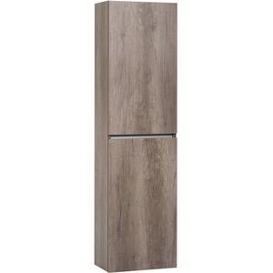 Ben Limara Hoge kast Rechts, 45x29x165 cm, Nebraska Eiken/Aluminium