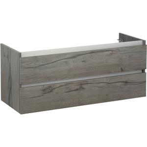 Ben Limara Wastafelonderkast 2 laden, 120x44,5x50, Cape Elm/Aluminium