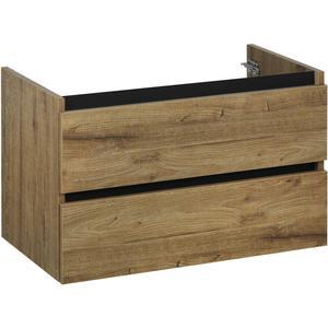 Ben Limara Wastafelonderkast 2 laden, 80x44,5x50 cm, Sherwood alu