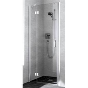 Kermi Liga Douchedeur draai 90x200 cm Links Zilver Glans/Helder Glas