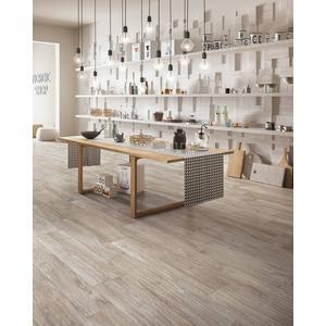 Vloertegel Castelvetro Woodland 20x120x1 cm Grijs 0,96M2