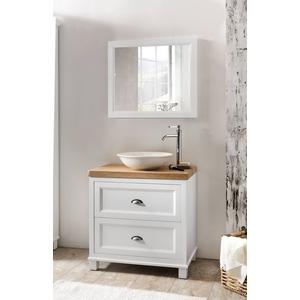 Ben Maison meubelset 80cm 2 lades mat wit Hout blad met opbouwkom