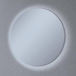 Ben Mirano ronde spiegel incl. LED-verlichting Ø 80cm wit houten frame
