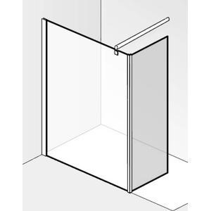 Saqu miralo Zijwand voor montageset zijwand 30x210 cm Helder Glas