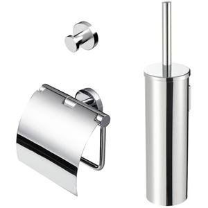 Geesa Nemox toilet accessoireset 3-in-1 Chroom