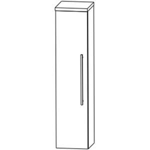 Saqu Pekka Midikast 1 deur links 30x32,5x129,6 cm Hoogglans wit/ hoogglans wit