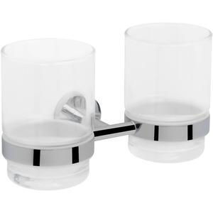 Saqu Polare Glashouder dubbel Chroom / Mat Glas