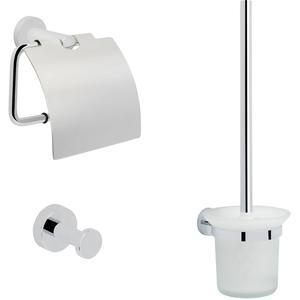 Saqu Polare toilet accessoireset 3-in-1 Chroom