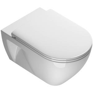 Ben Puro wandcloset Xtra Glaze Free Flush 54,5x35cm Wit inclusief zitting