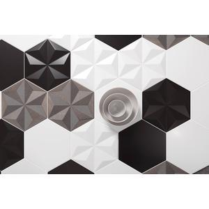 Wandtegel Quintessenza Origami 26,6x23 cm stella glitter 1 ST