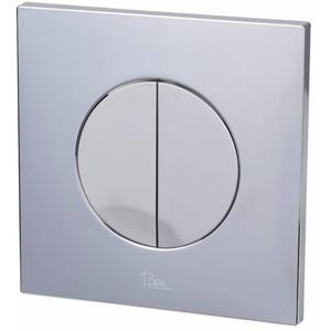 Ben Pro Flush Rock bedieningspaneel 2-knops tbv BPF chroom/mat-chroom