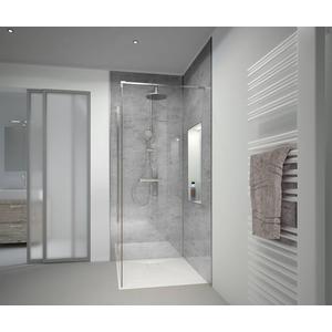 HSK RenoDeco paneel Alu 100x210 natuursteen asgrijs