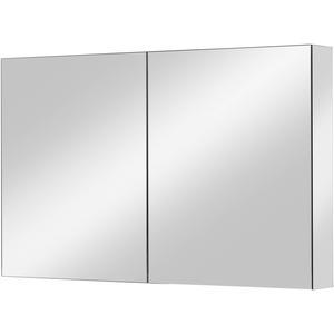 Ben Vario spiegelkast,2 gelijke delen,100x14x75cm, spiegelmelamine omtrokken zijpanelen