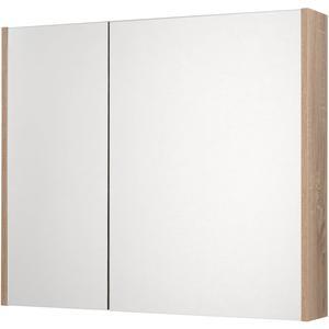 Saqu Salto Spiegelkast 2 deuren 80cm Bardolino Eiken