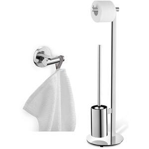 ZACK Scala toilet accessoireset 2-in-1 RVS glans