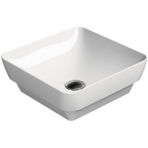 Ben Segno keramische (half)opbouwwastafel 38x38 cm wit Xtra Glaze
