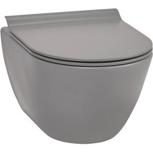 Ben Segno Compact Wandcloset 50cm Free Flush Xtra Glaze Beton Grijs