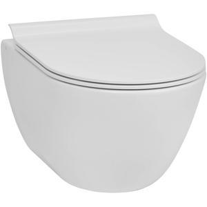 Ben Segno Compact Wandcloset 50cm FreeFlush Xtra Glaze Mat Wit
