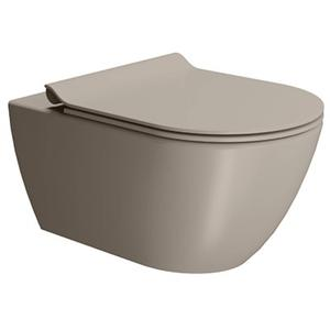 Ben Segno Wandcloset Dual Keramiek 56x36 cm Xtra Glaze Free Flush Beton Grijs